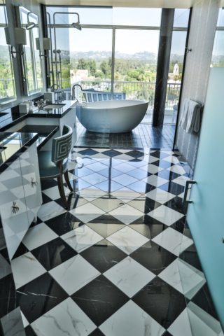 porcelain countertops and tile